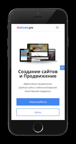 Мобильная версия от SiteStudio.pro: 100/100