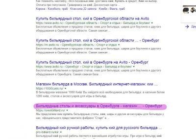 Продвижение сайта orenbilliard.ru (1)