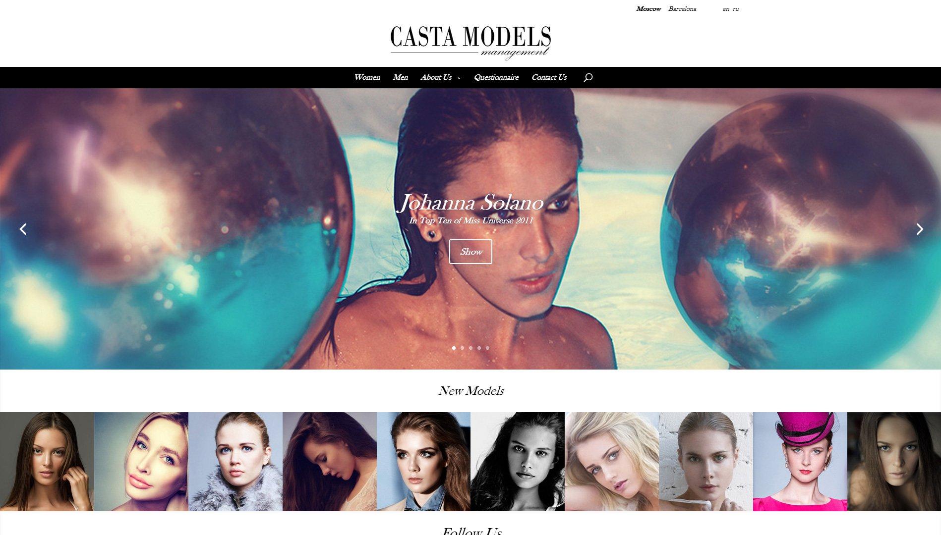 Создание сайта castamodels.com (3)