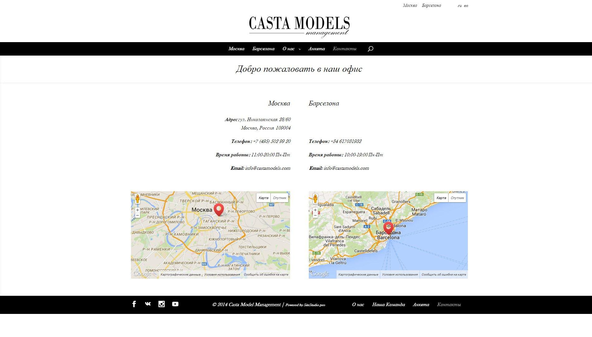 Создание сайта castamodels.com (14)