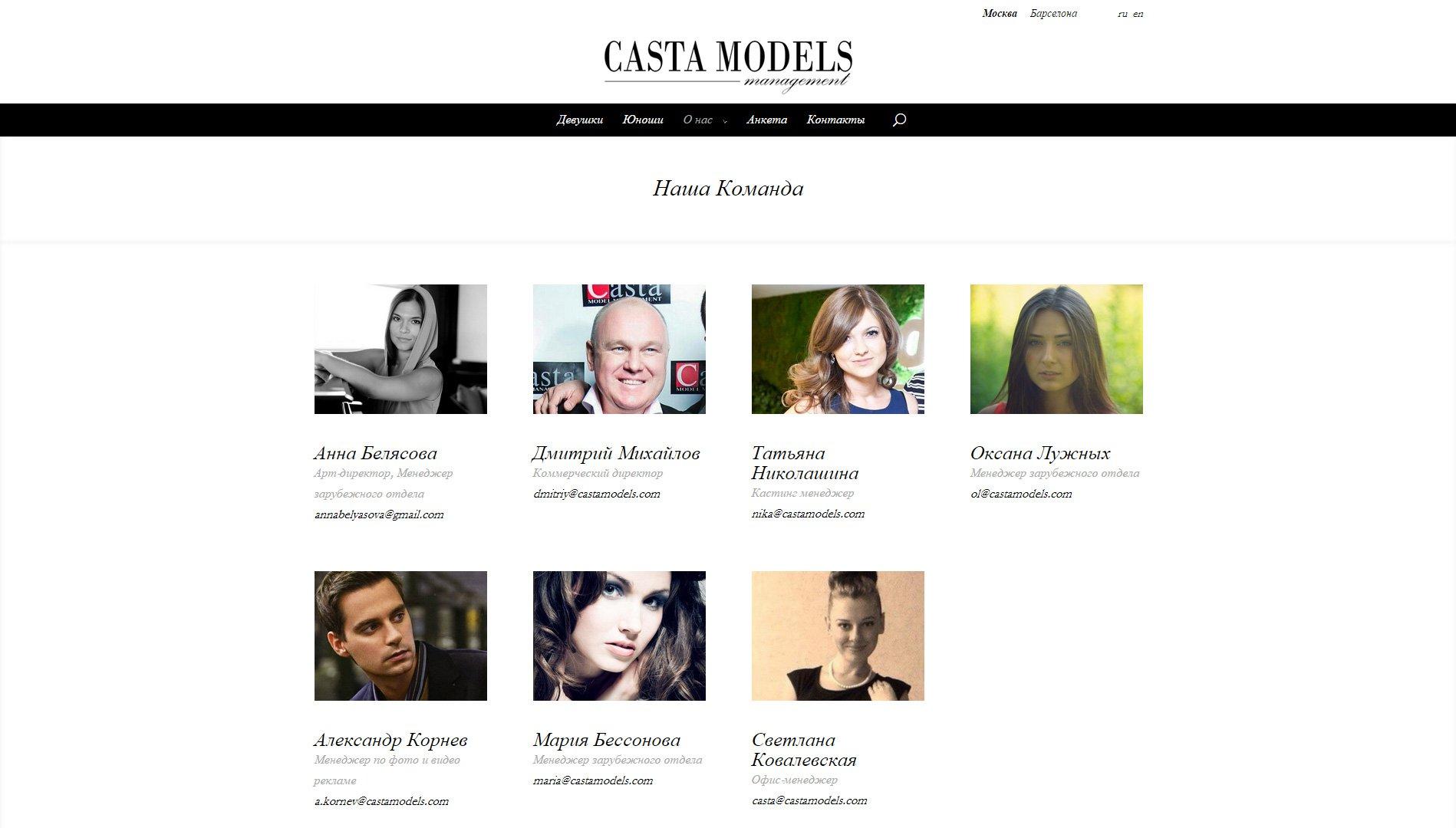 Создание сайта castamodels.com (10)
