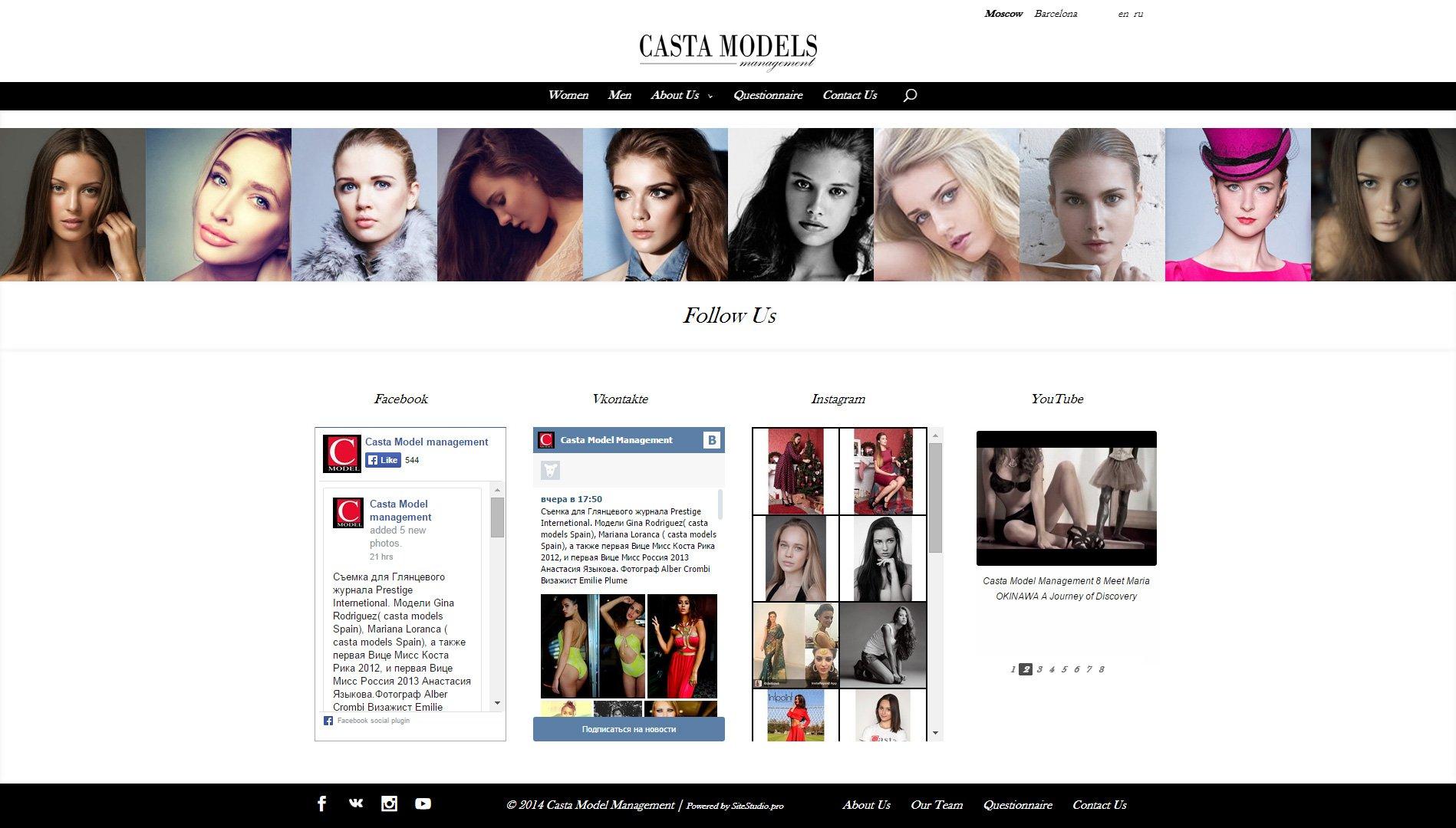Создание сайта castamodels.com (4)