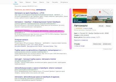 Продвижение сайта avtoemali56.ru 2
