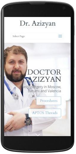Мобильная версия сайта  доктора Азизяна пластического хирурга  azizyan.com