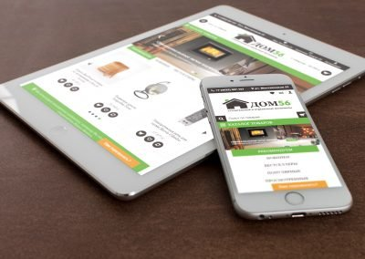 Создание мобильных версий сайта интернет-магазина DOM56.ru